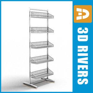 3d model supermarket goods small