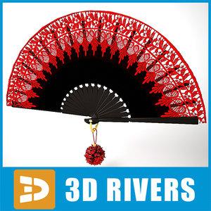 3d model of spanish fan