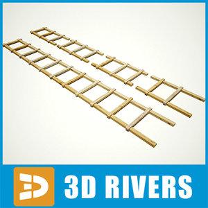 ladder village steps 3d max