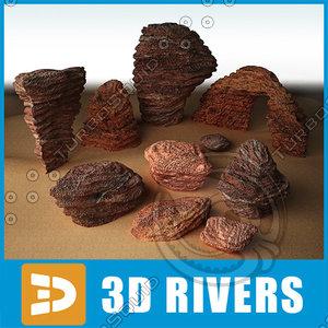 stratified stones 3d model