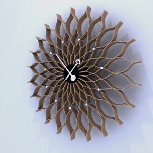3d model vitra sunflower clock