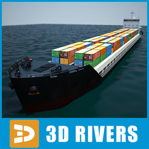container ship cargo transport 3d model