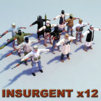 3d model terrorist insurgent