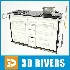 retro kitchen table 3d model