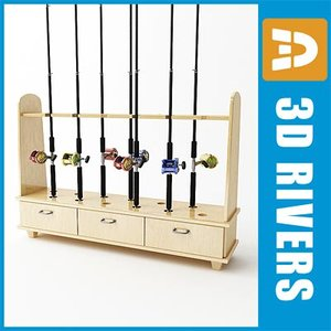 max fishing rod rack