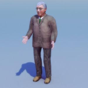 max elderly suit rigged