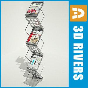 magazine rack book shelf 3d model