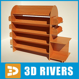 3ds max bookshelf books