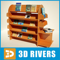 3d book shelf bookshelf