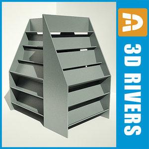 3d model bookshelf shelves books
