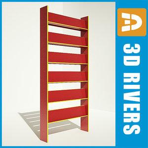 3dsmax bookshelf shelves books