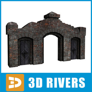 3ds max gate ruined building