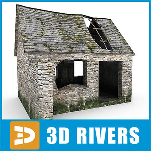 3d ruined house