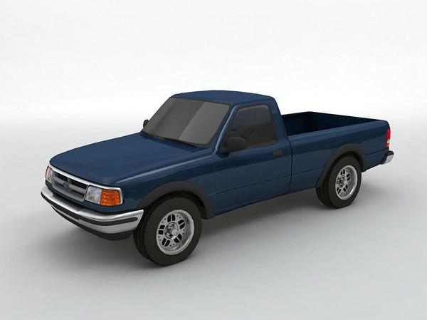 3D ranger pickup truck model