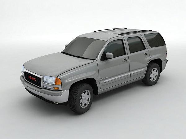 2003 gmc yukon suv 3D model