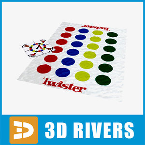 twister table games 3d model