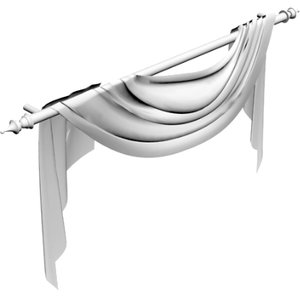 3d draperies model