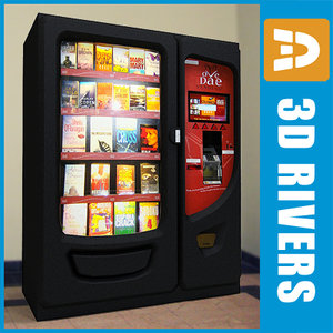 book vending machine 3d max