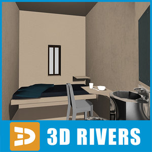 3d model of prison cell