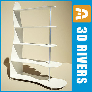3ds bend display rack shelf