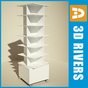 spinning display shelf 3d model