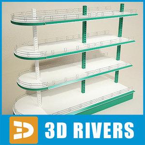 trading display shelf 3ds