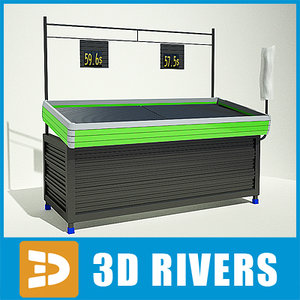 fruit stand display 3d 3ds