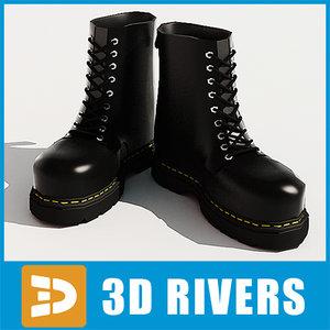 3d max martens steel-toe boots