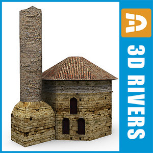 3d ruined mosque model