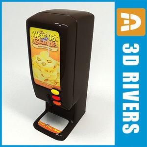 nacho vending machine 3d model