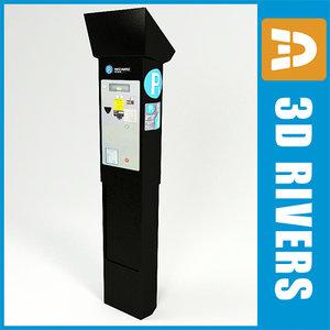 parking vending machine 3d model