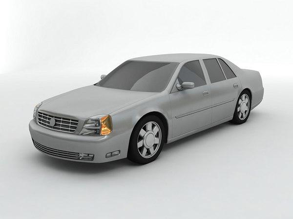 3D 2001 cadillac deville dts