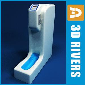 shoe covers vending machine 3d 3ds