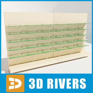 3d model display rack shelves shoes