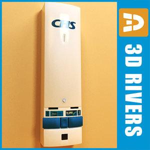 tampon vending machine 3d model