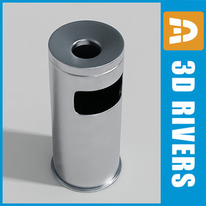 3d 3ds floor trash cans