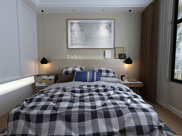 bedroom 4000x3200 3D model