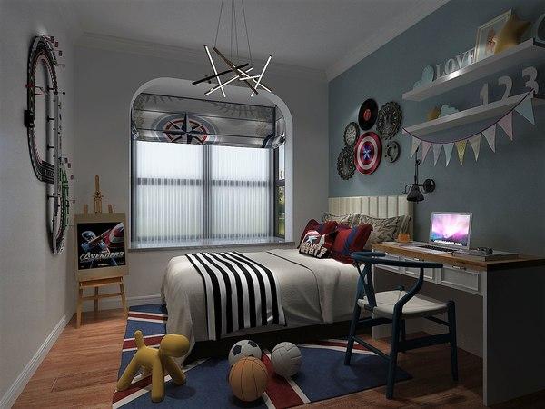 3D child bedroom 2500x2500 model