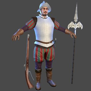 conquistador man morion model