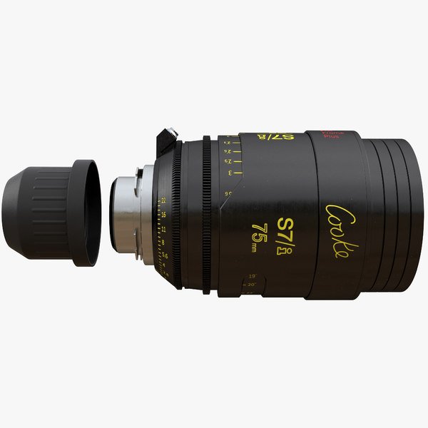 3D model movie lens cooke s7i