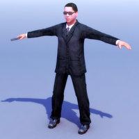 spy secret service 3d model
