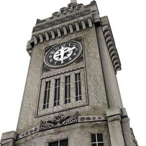 clock tower 3d c4d