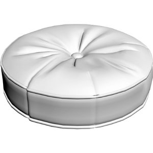 3d leather pillow