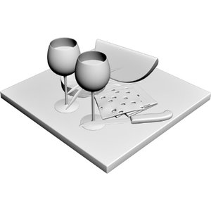 dessert tray 3d model