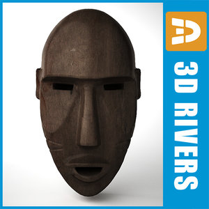 max african mask africa