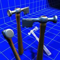 3ds max drywall hatchet 01 tools