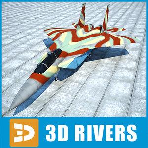 3ds max f-15 eagle jet
