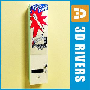3d model tooth brush vending machine