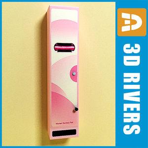 3dsmax feminine hygiene vending machine