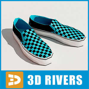 3dsmax slip-ons shoes